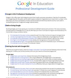 All Resources Teachers Need from Google in Education ~ Educational Technology and Mobile Learning