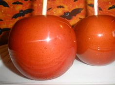 Candy Apples from Food.com: I loved candy apples as a child. I never knew they had cinnamon until I found this recipe. I was surprized when they turned out just like the ones at the Fair. I forget how many apples it covers so I just guessed 10.