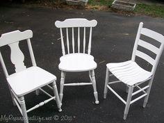 Repurpose antique chairs #DIY