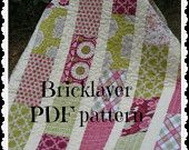 PDF PATTERN Brick Layer Lap Quilt ...easy, uses fat quarters or layer cake -- PDF version i love this and want
