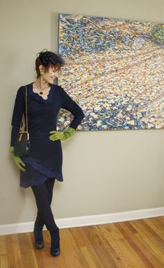 Navy and lime green. (Post contains a touching and very sad story.)