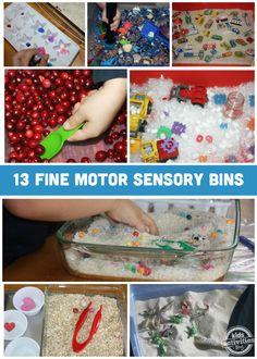 13 Sensory Bins to Develop Fine Motor Skills - Kids Activities Blog
