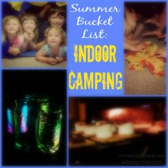 Summer Bucket List Idea: Indoor Camping