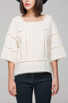 Top with cut out trim - FrontRowShop