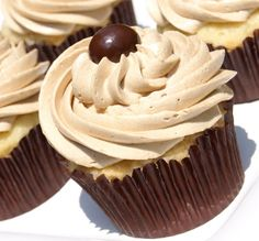 Vanilla Cupcakes with Coffee Buttercream