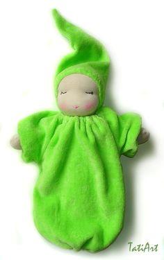 sweet sleeping waldorf doll