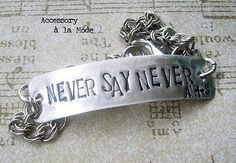 unisex style metalsmithed bracelet, certainly custom personalized with your favorite psalm, quote, words, names, memorable date. @Stamped Jewelry