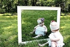 baby with mirror photo sessions, mirrors, live happili, babi petti, 6 months, rompers, petti romper, photographi, babi photo