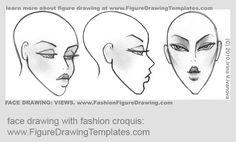 croquis head poses