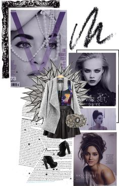"""But without darkness, we can't see the stars shine, tonight..."" by rukhyy ❤ liked on Polyvore"