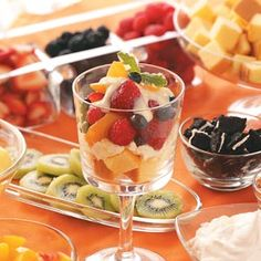 Summertime Fruit Trifles Recipe from Taste of Home
