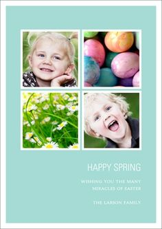 Easter Photo Cards -- Spring Fever #eastercardideas #easterideas #spring #peartreegreetings photo card, homemad card