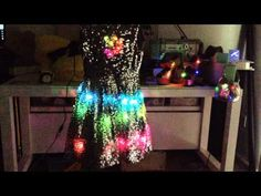 Neopixel'd Dress & LED Sequins'd Shoes and Purse! - YouTube wearabl electron, gaudi futur, wearabl led, groovi style, style girl, wearabl technolog