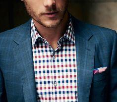 Amazing shirt and blazer.