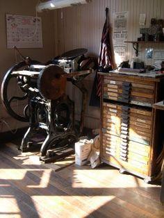 Antique letter press...