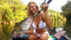 Striped Bass Fishing With Bikini Blonde