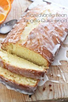 Glazed Vanilla Bean Tangelo Quick Bread