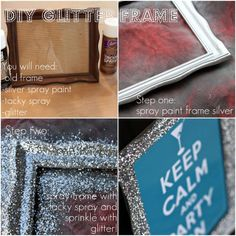 DIY Glitter Frame - Grab some bargain store frames and turn them into unique fun frames.