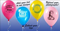 Personalized Balloons & Napkins in 1 Day