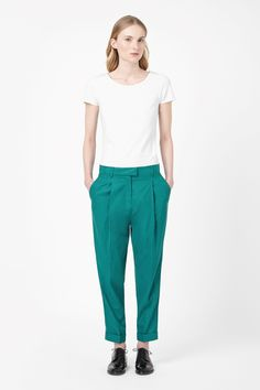 Relaxed pleated trousers from COS