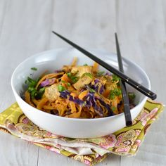 Butternut Squash Noodles and Tofu with Sweet Tahini Clementine Sauce