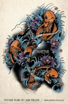 Tattoo Designed For Danny Clarkson The Word Invictus Is The Name Of A