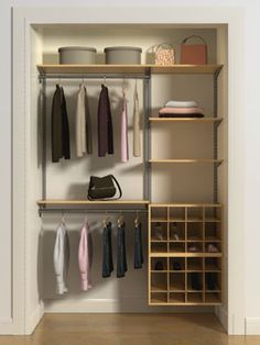 2. Closet design from Select Your Own design tool at OrganizedLiving.com #organizedliving #organizedcloset