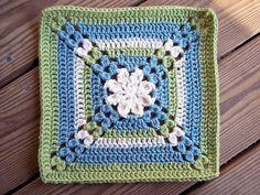 "Pretty petals - 12"" square, free pattern by Melinda Miller  #crochet #flower #motif"