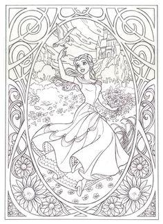 coloring ariel, disney coloring pages, disney princesses, disney princess coloring pages, coloring book pages, line art, art nouveau, coloring books, snow white
