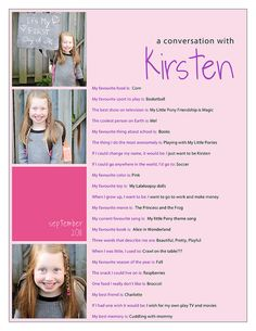do this each year beginning with first day of kindergarten .... watch their answers change