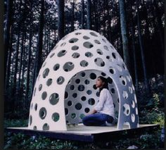 egg shell honeycomb dome