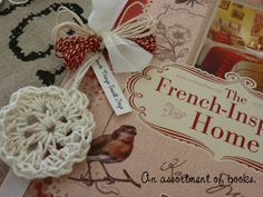 crocheted medallion ornaments made from linen string