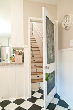 stairway (numbers on steps)