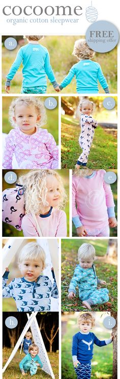 Cocooned & Ready For a Great Night Sleep - Cocoome Organic Cotton Sleepwear: 100% Organic Sleepwear For Babies and Children With FREE Shipping Offer For KSF Readers
