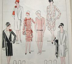Vintage Ad for dress patterns  antique ad  1920s by PastEncounters, $8.00