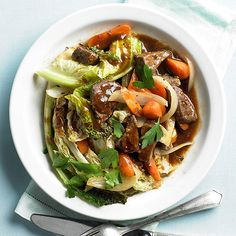 Stout, Beef & Cabbage Stir Fry