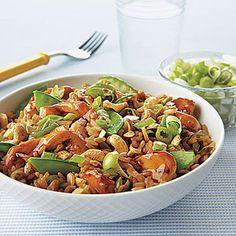 cashew fri, chicken recipes, rice recip, fri rice, dinner recip, snow pea, recipe chicken, meal, fried rice
