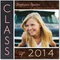 Natural Class - Graduation Announcements - simplyput by Ashley Woodman in Rose Pink. #graduation