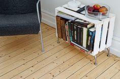 caixot, home deco diy table, diy bookshelf, hous, diy side, furnitur, crate, decor idea, boho chic diy decor