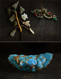 Three Antique Chinese Hair Ornaments