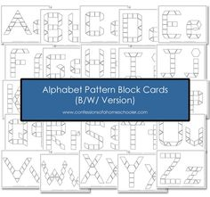Alphabet Pattern Block printables