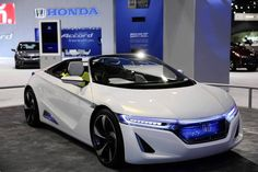 The Honda EV-STER Concept electric car at the 105th Chicago Auto Show at McCormick Place.