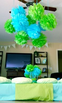 frog prince, frog party, frog decorations, fan idea, centerpiec