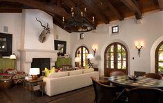 Spanish Colonial Hacienda - Living Room