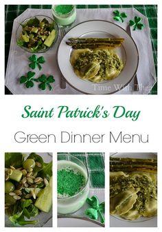 St. Patrick's Day Green Dinner Menu
