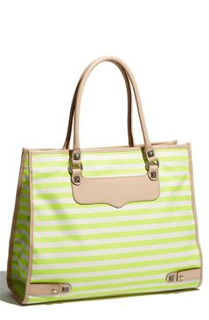 Neon + Stripe = Obsessed. Definitely a consideration for a new summer bag