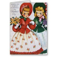 Girls With Daisies Mother's Day Card
