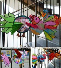 Primavera de Pjaros con CDs reciclados | Manualidades Infantiles