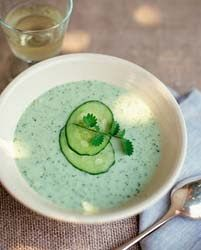 Cold Cucumber Soup suppose to be delicious ...