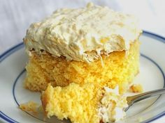 Aloha Cake! - Yellow cake mix, mandarin oranges, coconut pudding, pineapple and coconut!